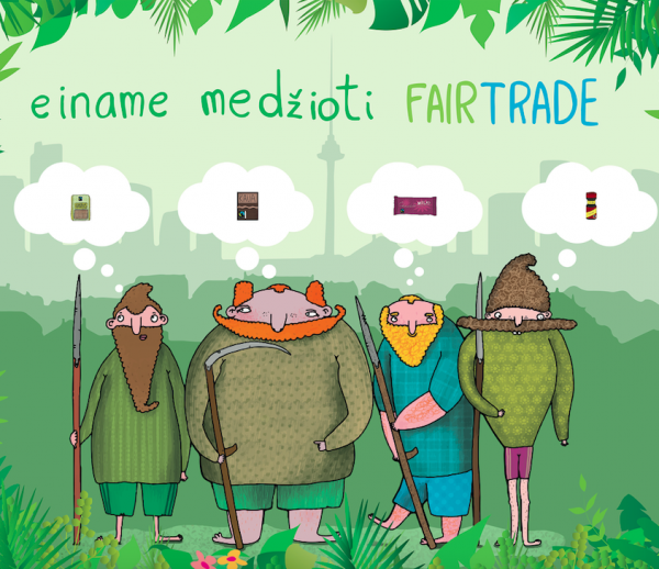 """Fair Trade"" stendo dizainas"